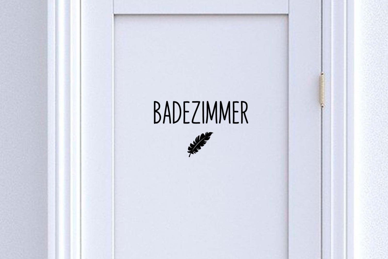 Türschild Badezimmer / Bad mit Symbol