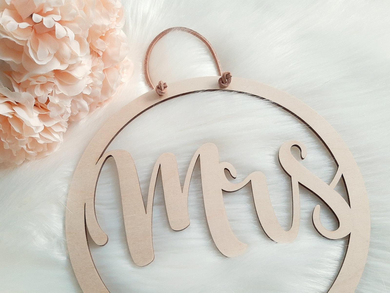 Mrs & Mr Hochzeitsdeko 2