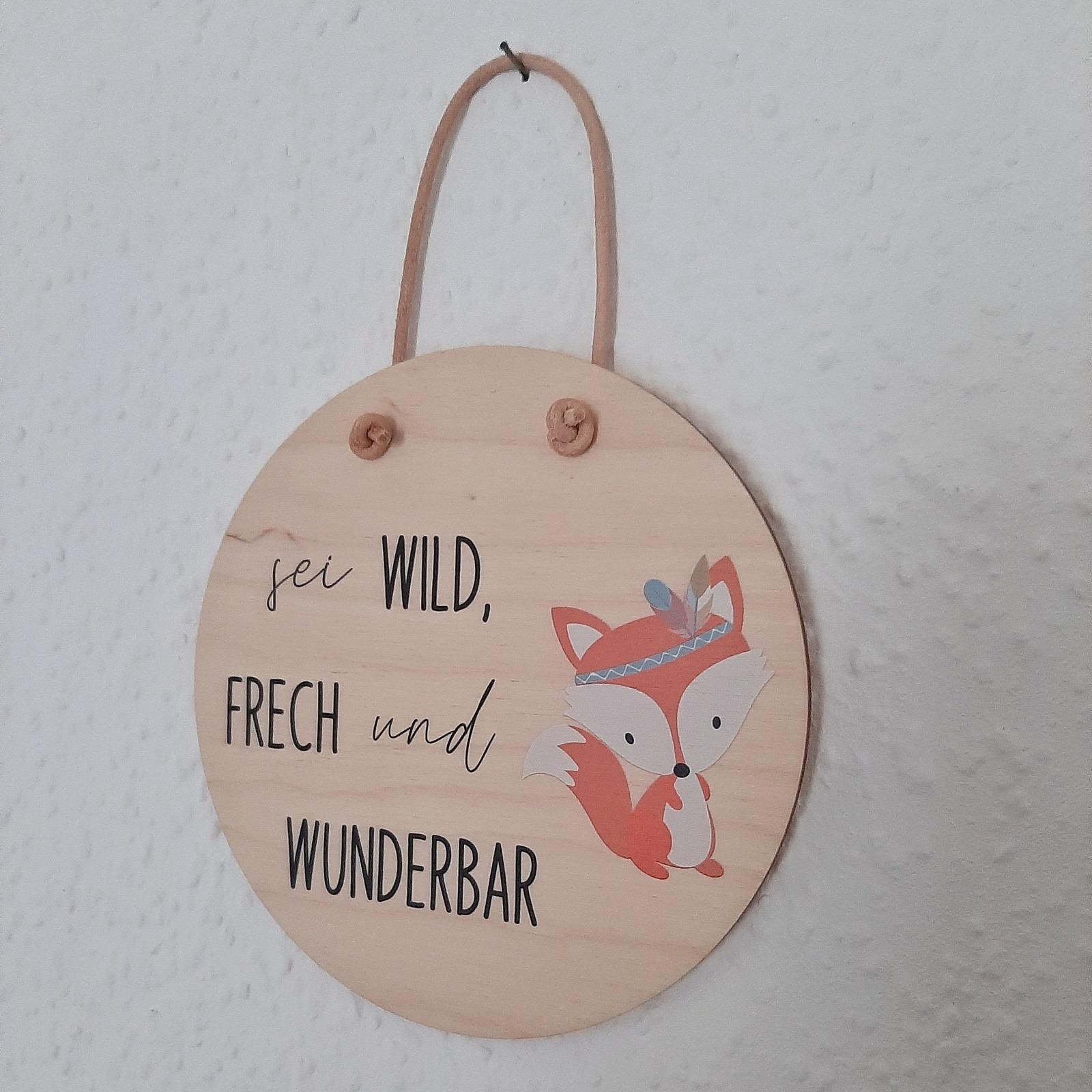 Holzschild mit Spruch und Tier 7