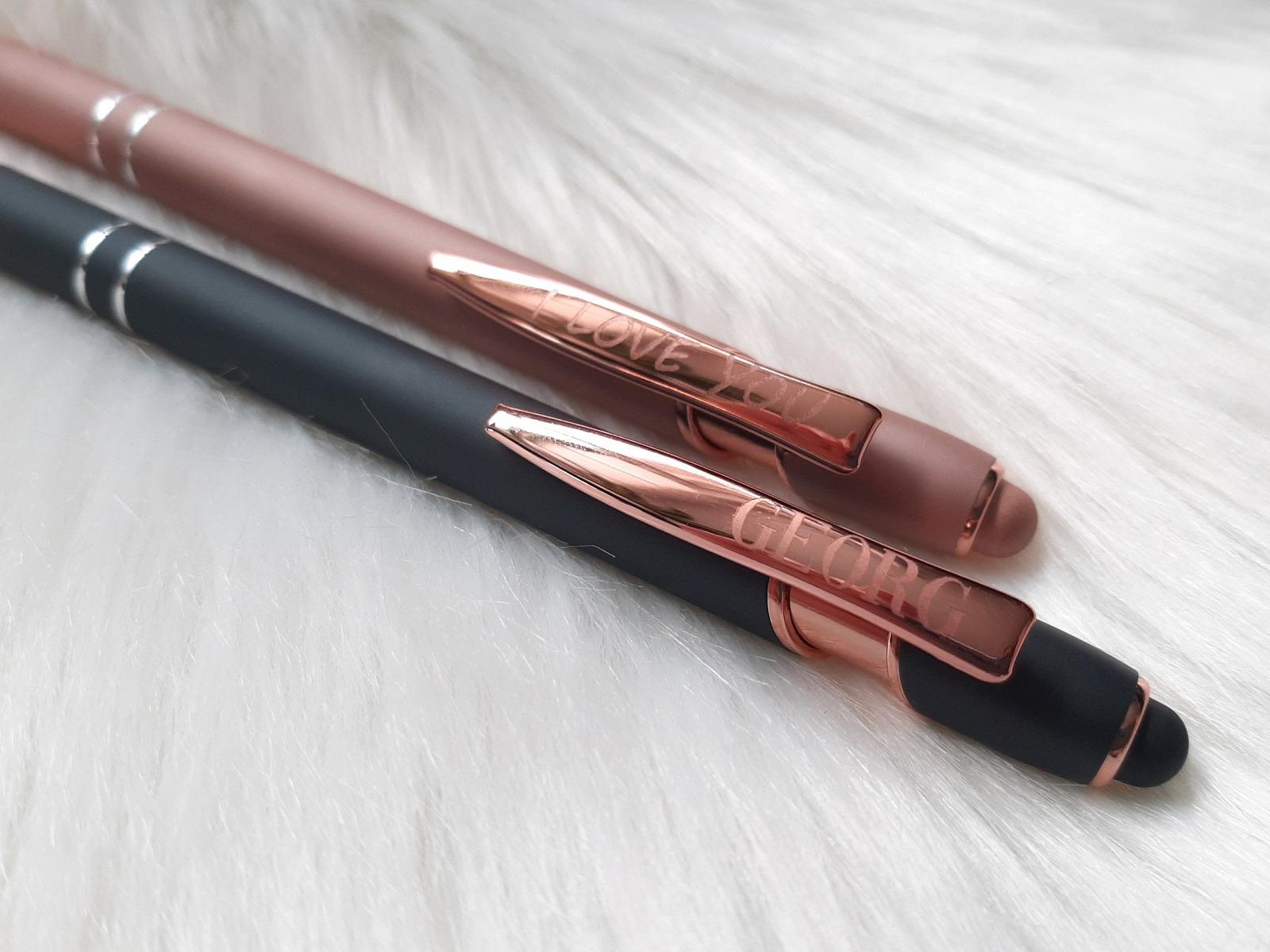 Kugelschreiber mit Name Geschenkverpackung Bügel graviert