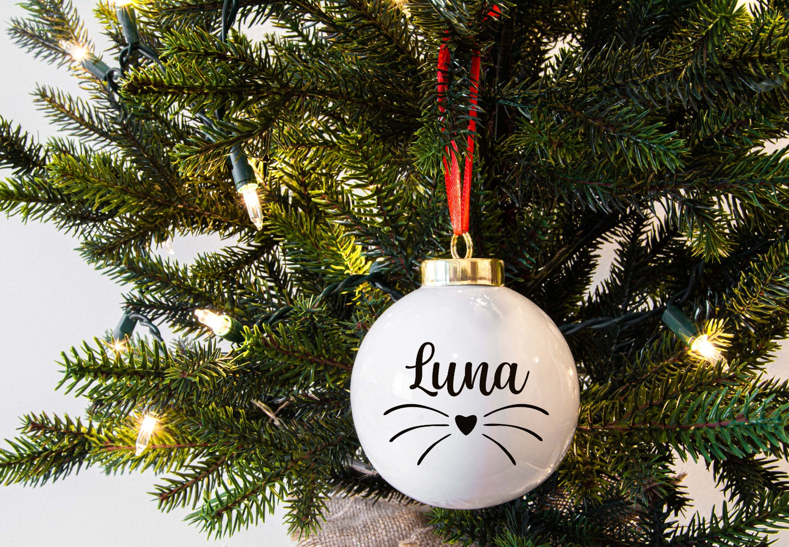 Haustier Aufkleber für Weihnachtskugel 6
