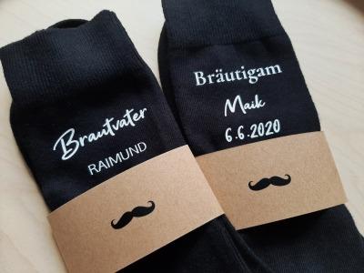 Hochzeitssocken mit Personalisierte Trauzeuge Marco Bräutigam