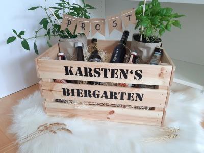 Biergarten Kräutergarten mit Namen personalisierte Aufkleber
