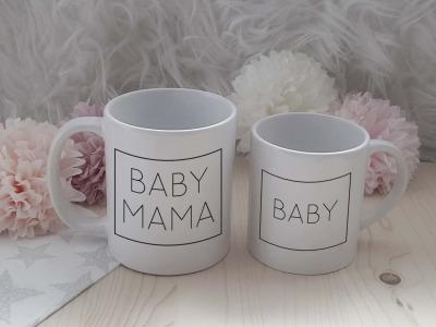 Family Rechteck Set 1x Mini-Tasse Eltern