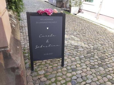 Willkommensschild für Hochzeit Aufkleber verschiedene Schriftzüge