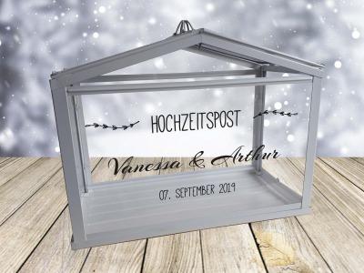 Hochzeitspost Box Schriftzug nur Aufkleber Geldgeschenke