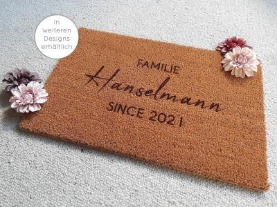 Fußmatten personalisiert aus Kokosfaser Türmatte Hochzeitsgeschenk