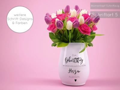 Blumentopf Geburtstag Aufkleber Zum Geburtstag wünschen