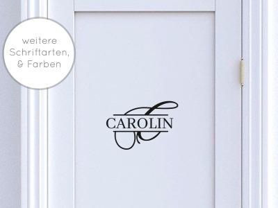 Türaufkleber Monogramm mit Namen Selbstklebend Tür-/