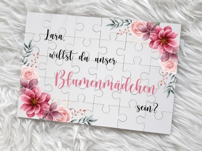 Blumen Puzzle personalisiertem Texte wie Lara