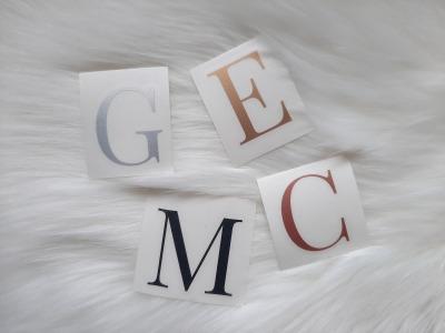 Buchstaben Sticker zu individuellen Verwendung Initialen