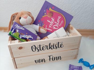 Osterkiste mit Namen Personalisiertes Osternest DIY