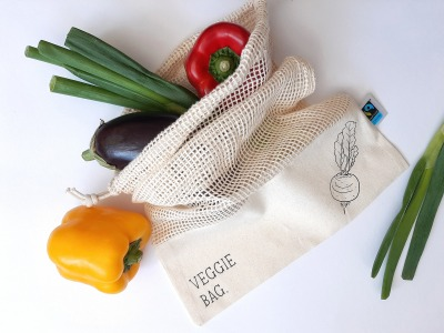 Obstbeutel personalisiert wiederverwendbar Tasche Baumwollbeutel Fairtrade