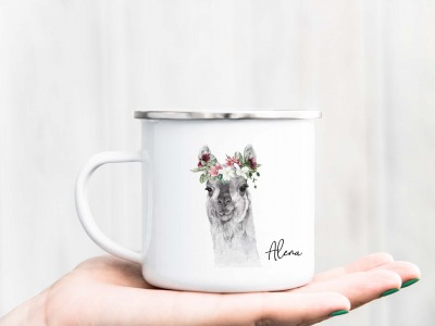Tasse Aquarell-Tiere personalisiert mit Wunschname Einseitig