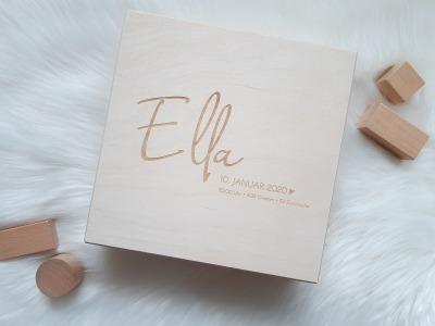 Baby Box Personalisierte Holzkiste mit Deckel