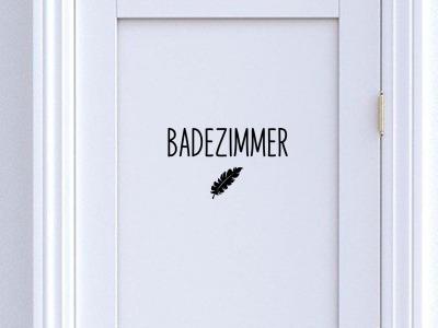 Türschild Badezimmer Bad mit Symbol Türbeschriftung