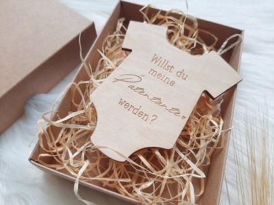 Schwangerschaft verkündung Holzanhänger Baby Überraschungsbox Holz