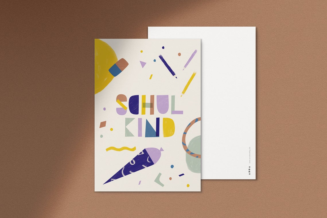 Postkarte Schulkind Anna Beddig 2