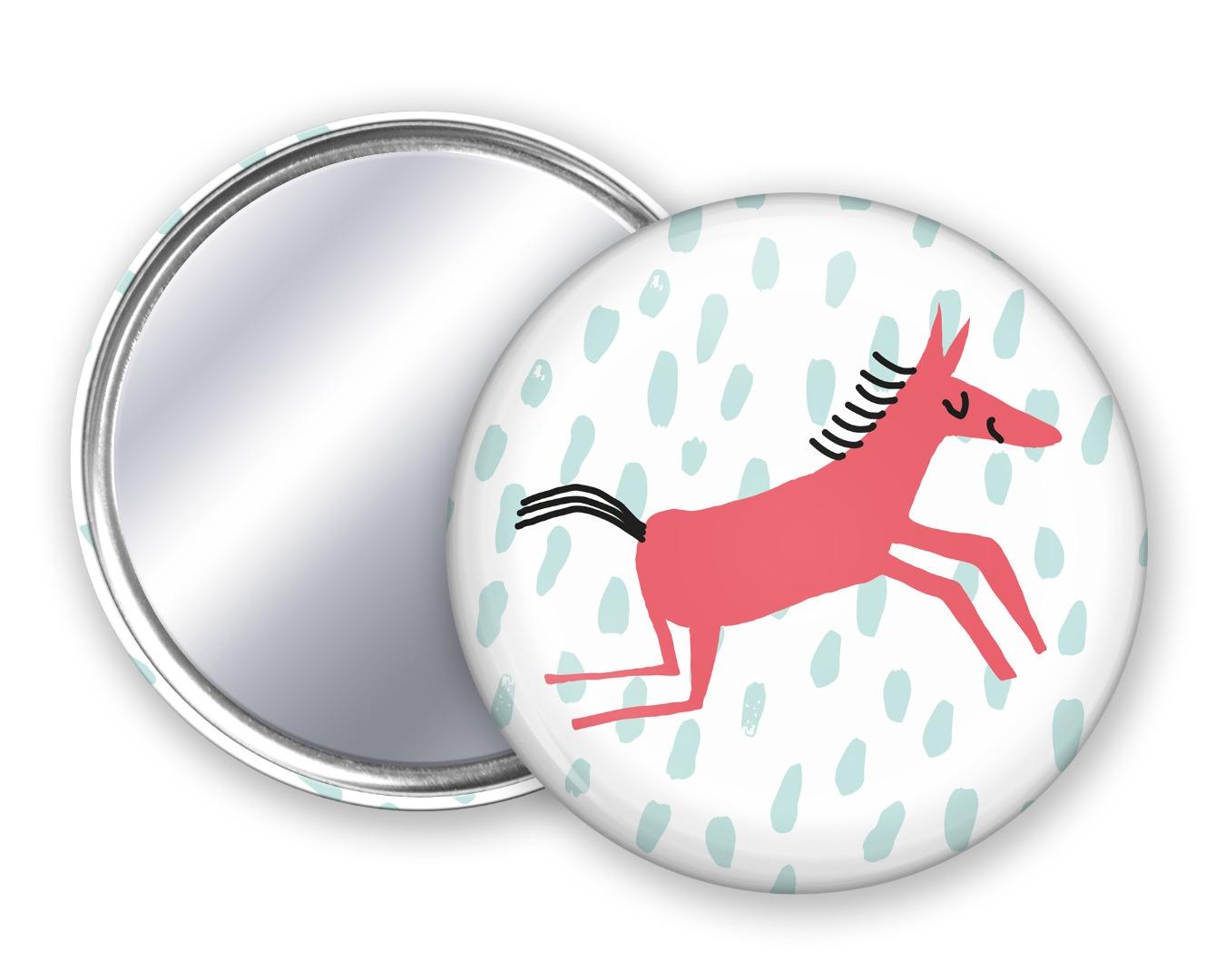 Taschenspiegel Pferdchen Unter Pinien 4