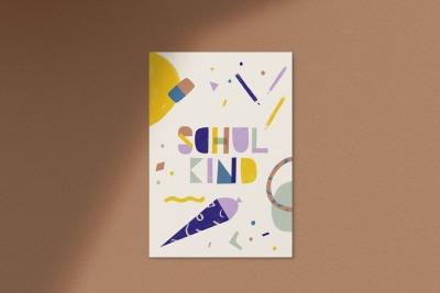 Postkarte Schulkind Anna Beddig - Schulkind
