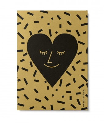 Postkarte Herz Unter Pinien - Herz