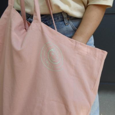 Cotton Bag Mint Patch Mini Circle