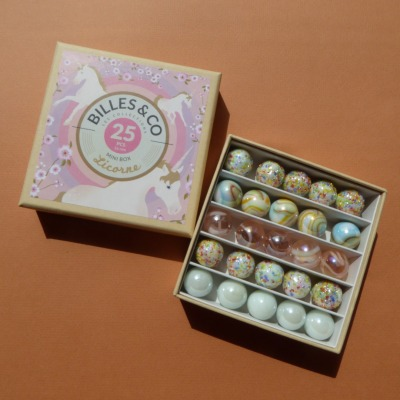 Murmeln Einhorn Mini Box Billes Co