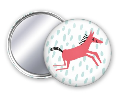 Taschenspiegel Pferdchen Unter Pinien - Pferdchen