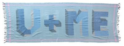 U ME in Blue 100 handknotted Merino
