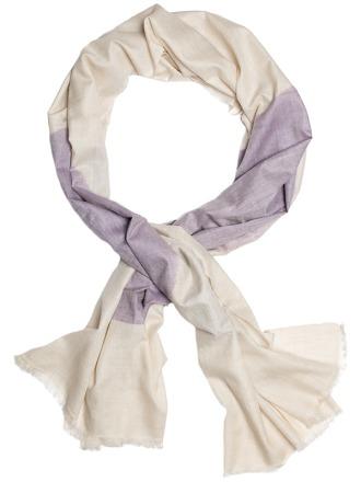 Aruna Violet Ivory 100 handcrafted cashmere