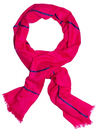 Love Blue Pink 100 handcrafted cashmere