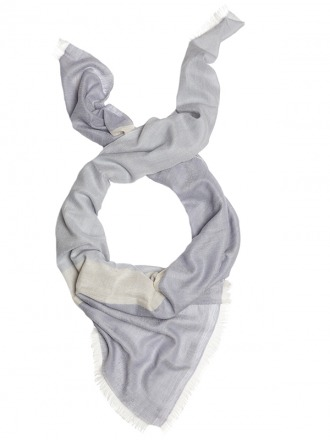 Thara Blue Ivory 100 handcrafted cashmere