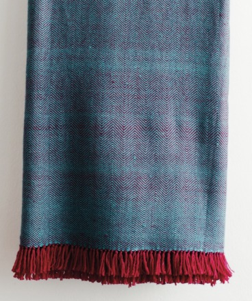 HandWerkKunst - soft touch XL-blanket blue/pink
