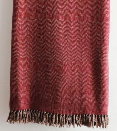 HandWerkKunst - soft touch XL-blanket orange/fawn