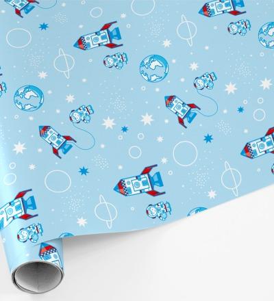5 Bögen Geschenkpapier Astronaut - 50 x 70 cm