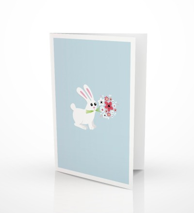 5 Grußkarten Bunny Geburtstagskarte Glückwunschkarte mit Hase - 5er Set inkl. Umschlag C6