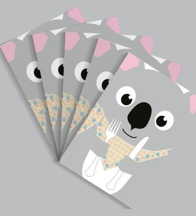 5 Postkarten Koala von Knuschels