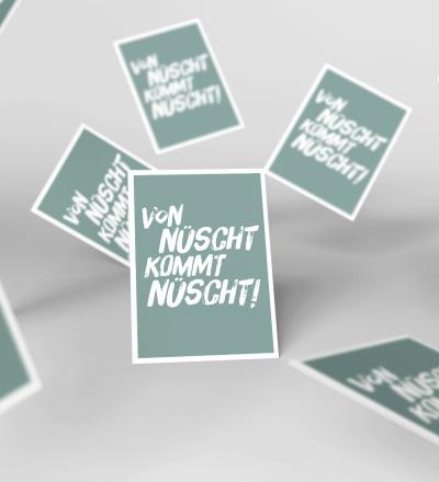 5 Postkarten Von nuescht kommt nuescht Berliner Mundart