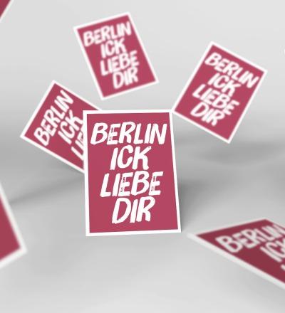 5 Postkarten Berlin ick liebe dir Berliner Mundart