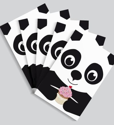 5 Postkarten Panda von Knuschels