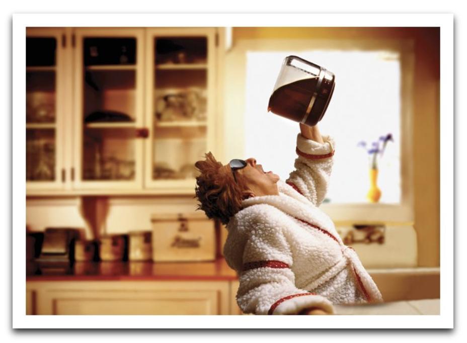 Lady Coffee Pot Card