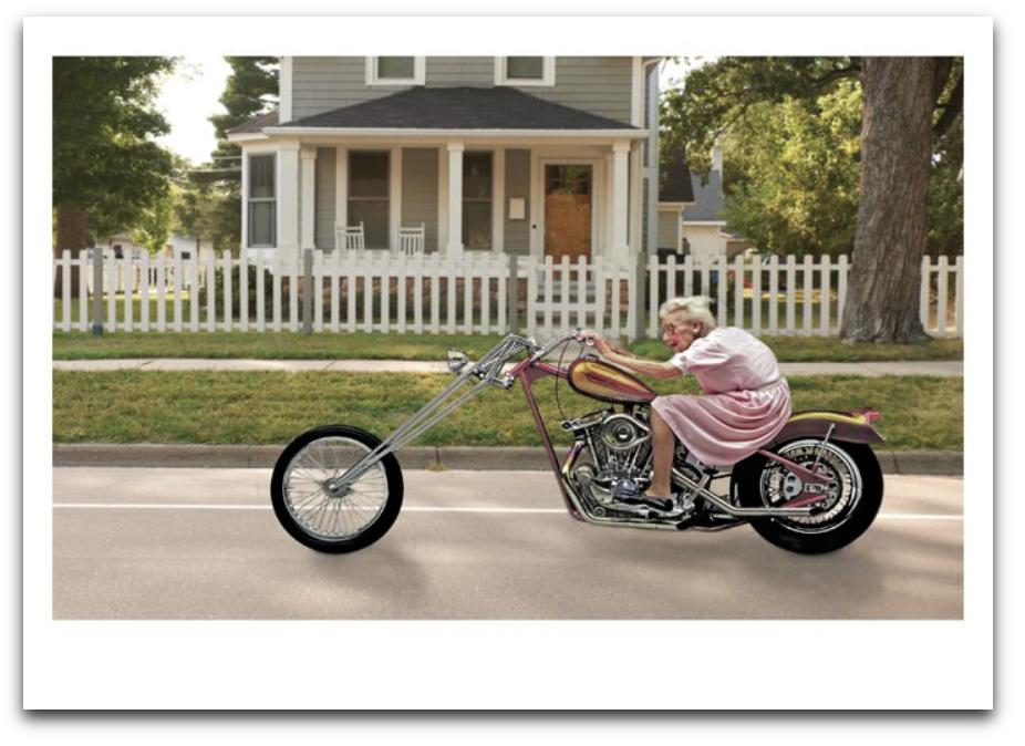 Grandma Motorcycle Card