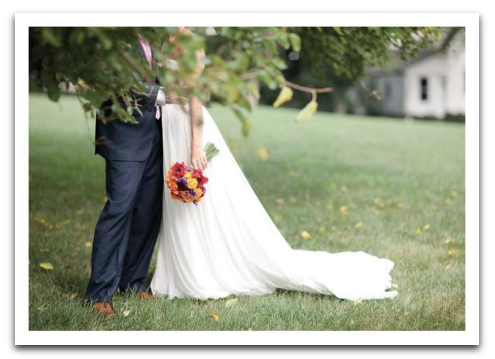 Bouquet Couple Card