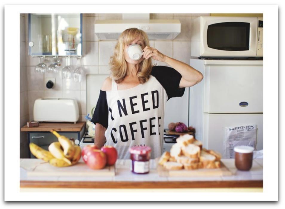 Lady Need Coffee Card