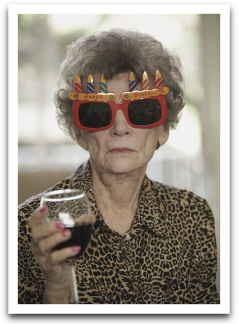 Lady Birthday Glasses Card
