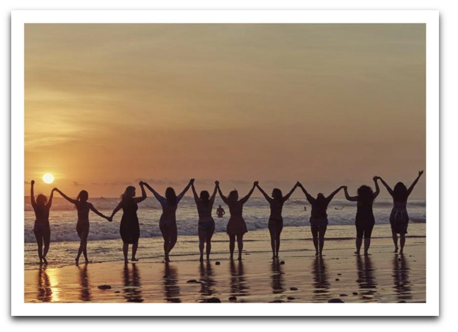 Women In Sunset Card