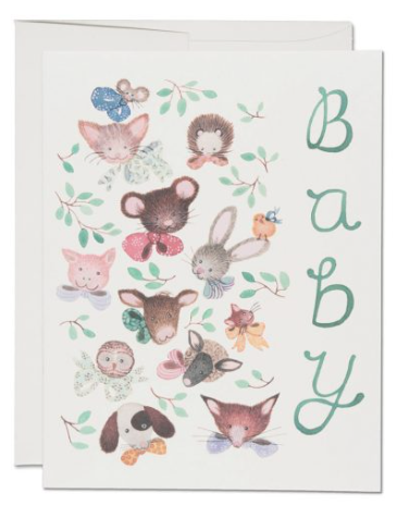 Pink Noses Card - 1