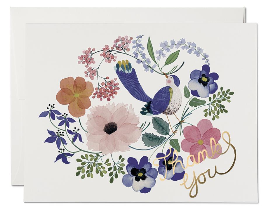 Violet Birdy Card