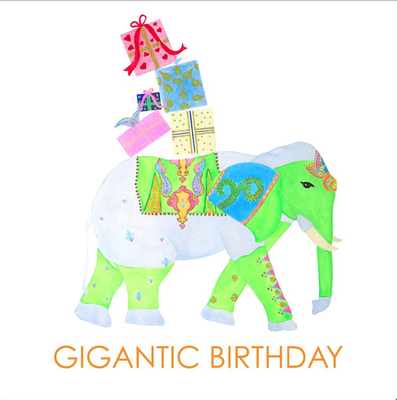 Birthday Elefant Backgifts Card