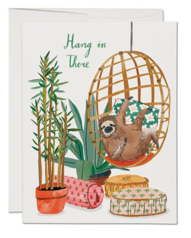 Chair Sloth Card